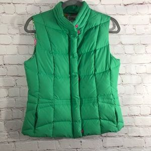 Lilly Pulitzer Green Vest with Pockets